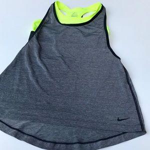 Nike Gray & Neon Green Tank